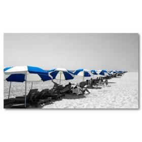 Αφίσα (μαύρο, λευκό, άσπρο, ήλιος, καλοκαίρι, παραλία)